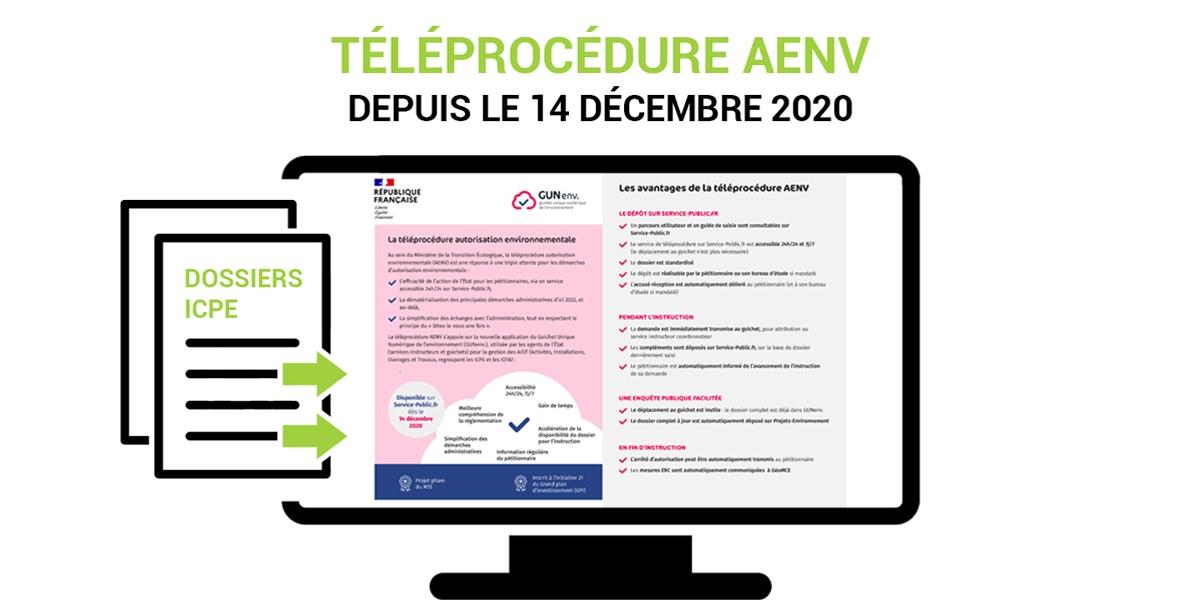 B27 | News : ICPE, téléprocédure AENV