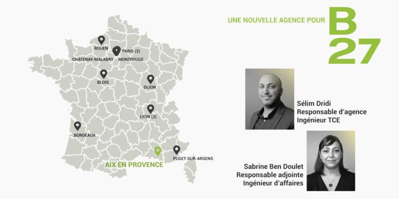 B27   News : Nouvelle agence, Aix-en-Provence